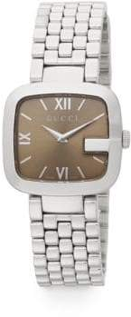 Gucci G Stainless Steel Brown Dial Watch