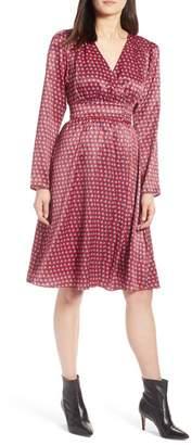 Halogen Print Satin Dress (Regular & Petite)