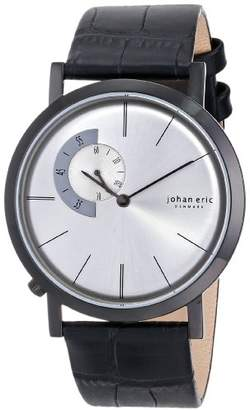 Johan Eric Men's JE1500-13-001 Randers Black Ion-Plated Coated Stainless Steel Silver Sunray Dial Watch