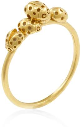 Lee Renee Loveliness Of Ladybirds Ring - Gold