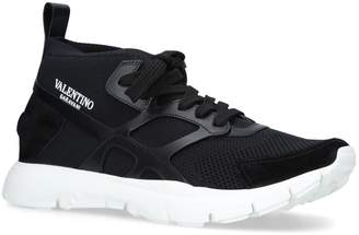 Valentino Knitted Sound High Sneakers