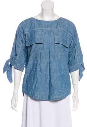Chloé Asymmetrical Long Sleeve Blouse