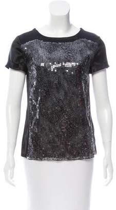 Magaschoni Silk Sequin Shirt