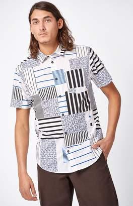 RVCA Mixed Liner Short Sleeve Button Up Shirt