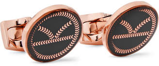 Deakin & Francis Kingsman + Rose Gold-Tone And Resin Cufflinks