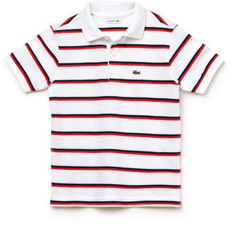 Lacoste (ラコステ) - Boys ボーダーポロシャツ (半袖)
