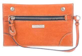 Miu Miu Grained Leather Zip Pouch