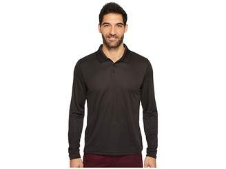 Perry Ellis Three-Button Long Sleeve Jacquard Polo