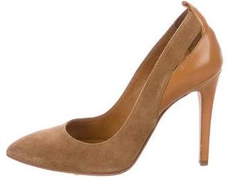 IRO Suede Pointed-Toe Pumps