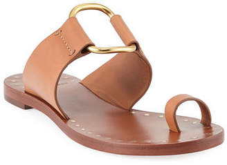 Tory Burch Brannan Flat Studded Leather Slide Sandal