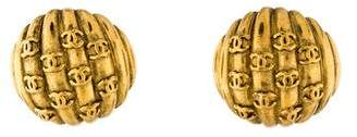 Chanel CC Balloon Clip-On Earrings
