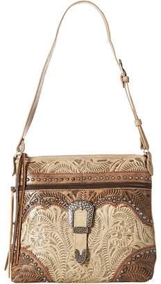 American West Saddle Ridge Zip Top Shoulder Bag Shoulder Handbags
