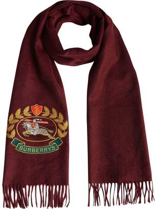 Burberry The Classic Cashmere Scarf with Archive Logo