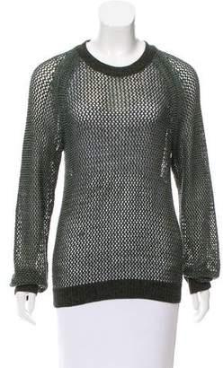 Theyskens' Theory Long Sleeve Open Knit Sweater