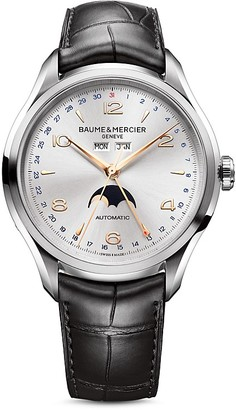 Baume & Mercier Clifton Automatic Moon Phase Watch, 43mm $4,800 thestylecure.com