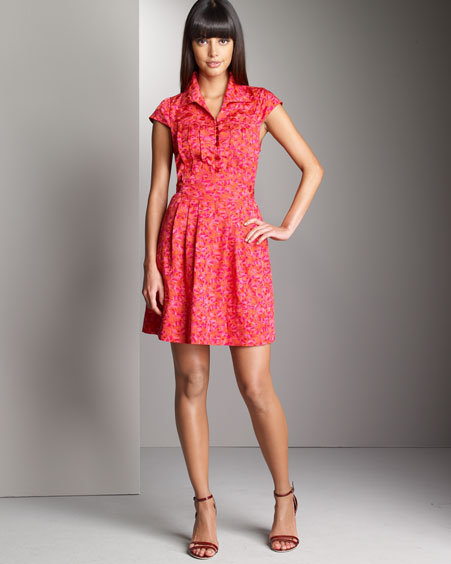 Marc By Marc Jacobs Printed Cap-Sleeve Dress