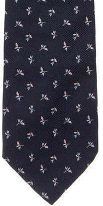Tiffany & Co. Silk Floral Tie navy Silk Floral Tie