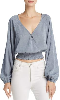 June & Hudson Cropped Wrap Top