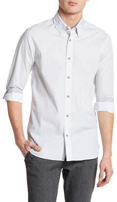 Ted Baker Arkells Micro Dotted Print Slim Fit Sport Shirt