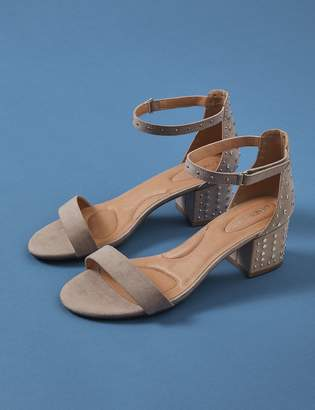 Studded Block Heel Sandal