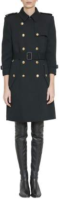 Givenchy Black Wool Trench Coat