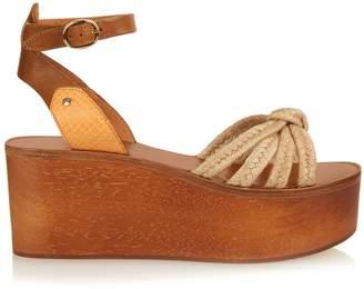 Isabel Marant Zia wooden flatform sandals