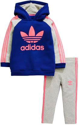 adidas Baby Girl Superstar Hooded Top And Legging Set