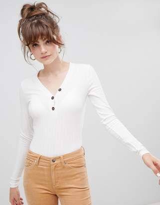 New Look button down top in cream