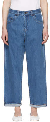 Craig Green Blue Bleached Denim Jeans