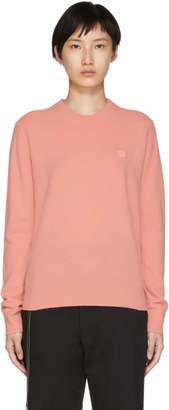 Acne Studios Pink Nalon Face Sweater