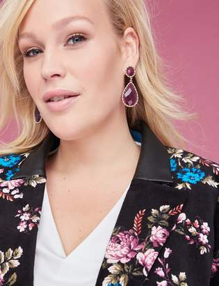 Lane Bryant Encrusted Moonlight Acetate Drop Earrings