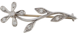 Cathy WatermanCathy Waterman Diamond Flower Brooch