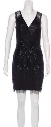 Aidan Mattox Beaded Lace Dress w/ Tags