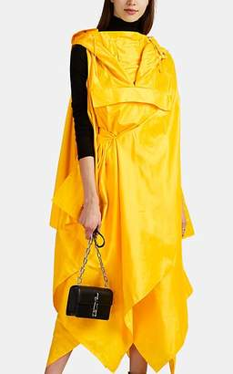 Maison Margiela Women's Silk Tech-Satin Hooded Anorak Dress - Yellow