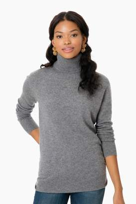 Equipment Heather Gray Cashmere Oscar Turtleneck