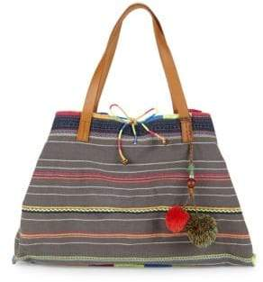 Chindi Embroidered Tote