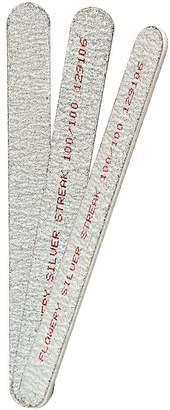 Flowery Coarse Silver Streak Nail File 100/100