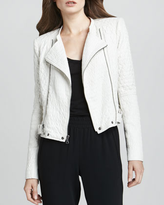 BCBGMAXAZRIA Quilted Motorcycle Jacket