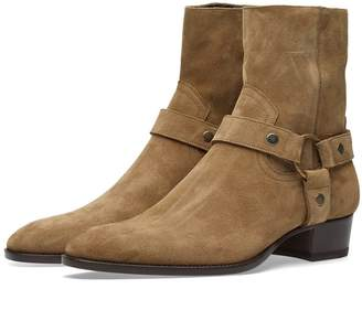 Saint Laurent Wyatt Harness Suede Boot