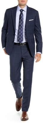 Hickey Freeman Modern H Fit Plaid Wool Suit