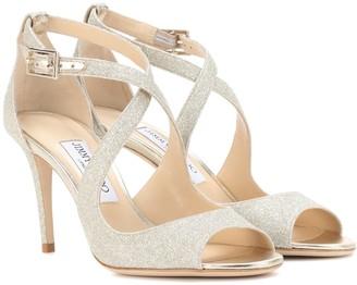 Jimmy Choo Emily 85 glitter sandals