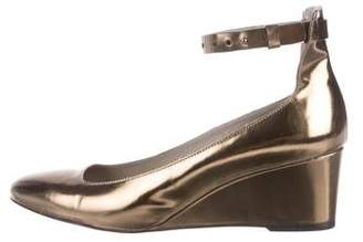 Zero Maria Cornejo Leather Round-Toe Wedges