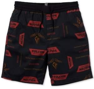 Volcom Big Boys True Classic-Fit Stretch Logo-Print Shorts