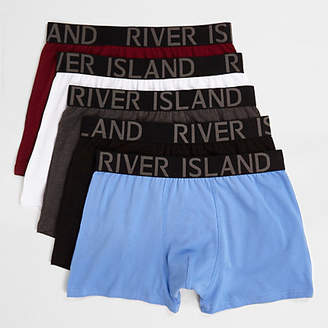 River Island Blue multicolored trunks multipack