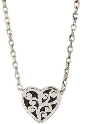 Lois Hill Sterling Silver Cutout Heart Slide Pendant Necklace