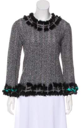 Christian Lacroix Fur-Accented Knit Top