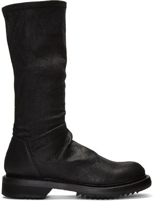 Rick Owens Black Sock Creeper Boots $1,620 thestylecure.com