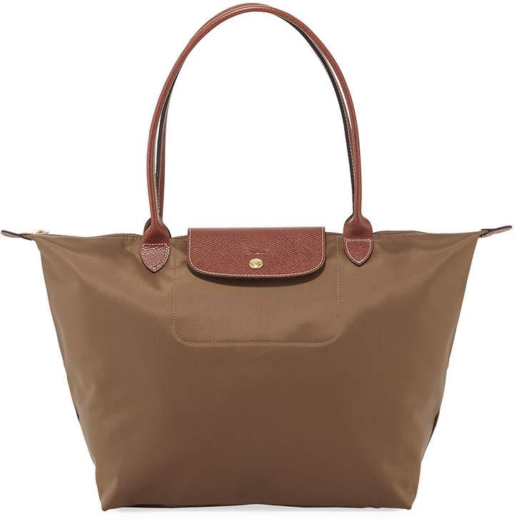 Longchamp Le Pliage Large Tote Bag - DARK BEIGE - STYLE