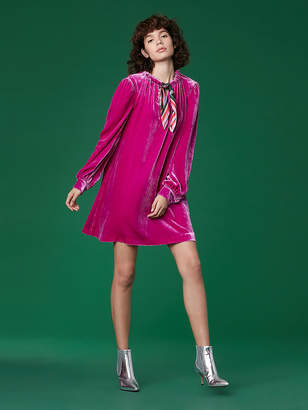 Diane von Furstenberg Velvet Mini Dress