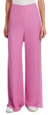 The Row Women's Kiola Wide-Leg Silk Pants - Orchid Pink - Size 2